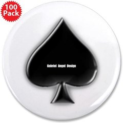 """Of Spades 3.5"""" Button (100 pack)"""