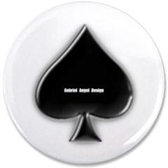 "Of Spades 3.5"" Button"