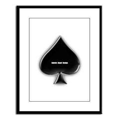Of Spades Large Framed Print