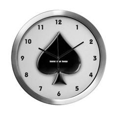 Of Spades Modern Wall Clock