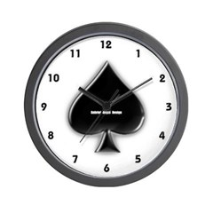 Of Spades Wall Clock