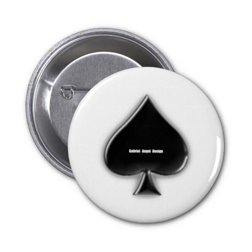 Spades Suit Button