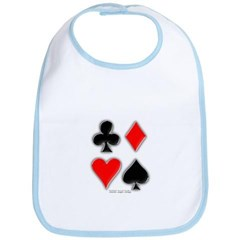 Playing Card Suits Baby Bib