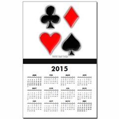 Playing Card Suits Calendar Print