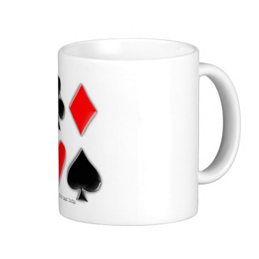 Playing Card Suits Classic White Mug