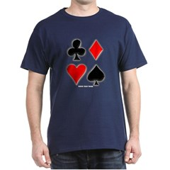 Playing Card Suits Dark T-shirt