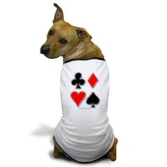 Playing Card Suits Dog T-Shirt