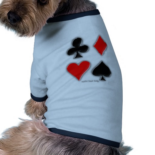 Playing Card Suits Doggie Ringer T-Shirt