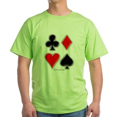 Playing Card Suits Green T-Shirt