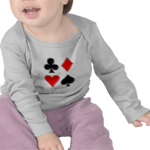 Playing Card Suits Infant Bella Long Sleeve T-Shirt