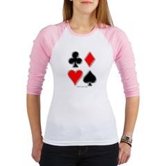 Playing Card Suits Junior Raglan T-shirt