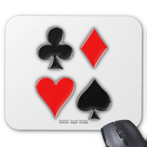 Playing Card Suits Mousepad