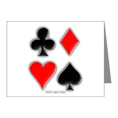 Playing Card Suits Note Cards (Pk of 10)