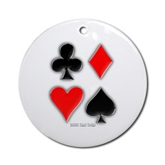 Playing Card Suits Ornament (Round)