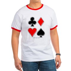 Playing Card Suits Ringer T-Shirt