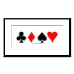 Playing Card Suits Small Framed Print