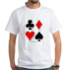 Playing Card Suits White T-Shirt