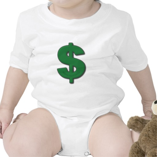 Green Dollar Sign Infant Creeper
