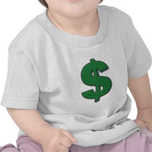 Green Dollar Sign Infant T-Shirt