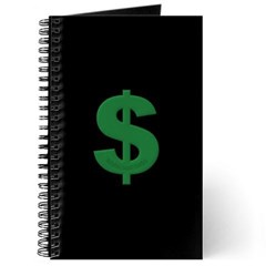 Green Dollar Sign Journal