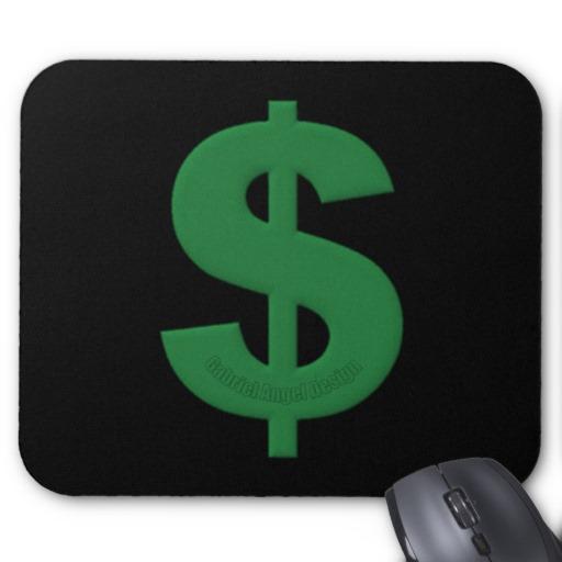Green Dollar Sign Mousepad