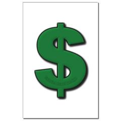 Green Dollar Sign Small Posters