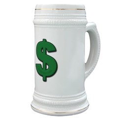 Green Dollar Sign Stein