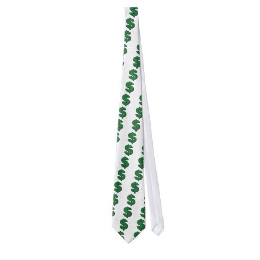 Green Dollar Sign Tie