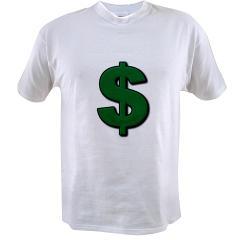 Green Dollar Sign Value T-shirt