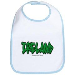 Ireland Graffiti Baby Bib
