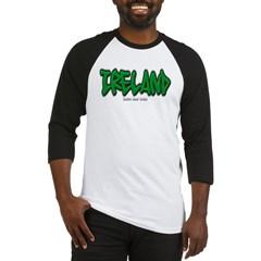 Ireland Graffiti Baseball Jersey T-Shirt