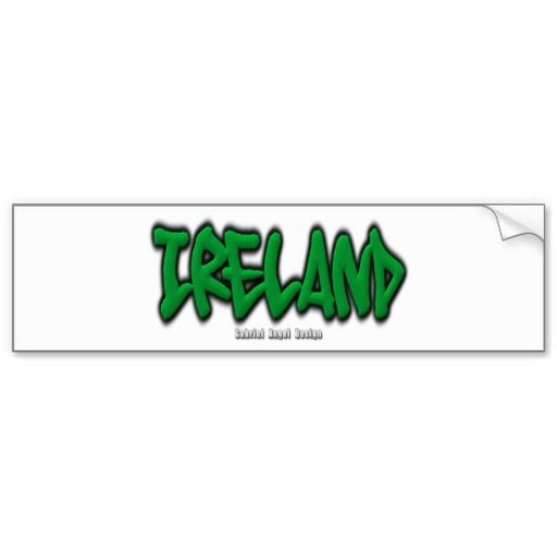 Ireland Graffiti Bumper Sticker