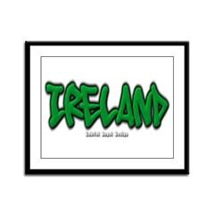 Ireland Graffiti Framed Panel Print