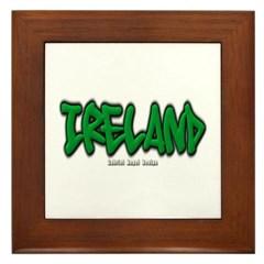 Ireland Graffiti Framed Tile