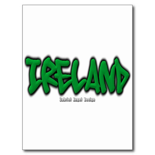 Ireland Graffiti Postcard