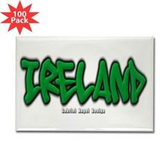 Ireland Graffiti Rectangle Magnet (100 pack)
