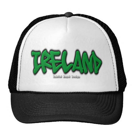 Ireland Graffiti Trucker Hat