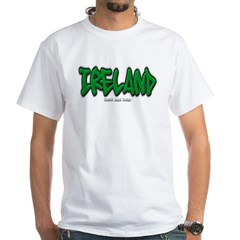 Ireland Graffiti White T-Shirt