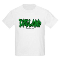 Ireland Graffiti Youth T-Shirt by Hanes