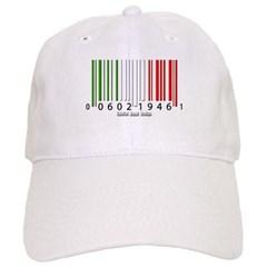 Barcode Italian Flag Baseball Cap