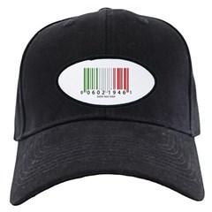 Barcode Italian Flag Baseball Hat
