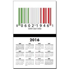 Barcode Italian Flag Calendar Print