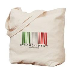 Barcode Italian Flag Canvas Tote Bag