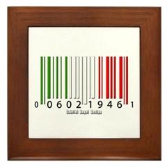 Barcode Italian Flag Framed Tile