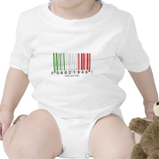 Barcode Italian Flag Infant Creeper