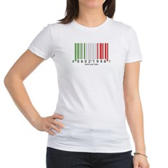 Barcode Italian Flag Junior Jersey T-Shirt