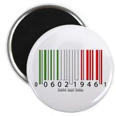 Barcode Italian Flag Magnet