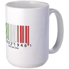 Barcode Italian Flag Mug