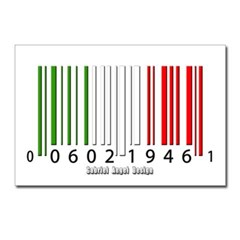 Barcode Italian Flag Postcards (Package of 8)