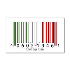 Barcode Italian Flag Rectangle Decal